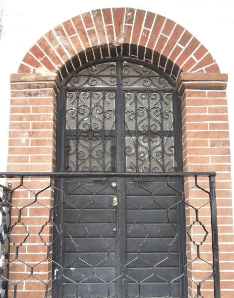 Locked Mexican School Door