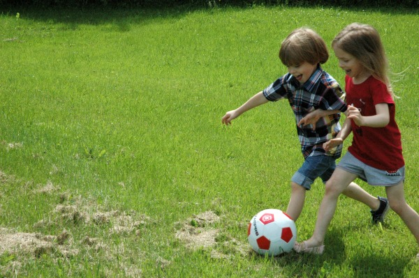 Canada Day-Giant Tiger-Playing Soccer